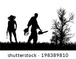 vector silhouette of people who ... | Shutterstock .eps vector #198389810