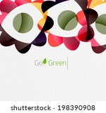 green eco unusual background... | Shutterstock .eps vector #198390908