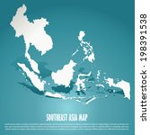 southeast asia map  aec  asean... | Shutterstock .eps vector #198391538