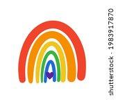 lgbt rainbow heart flag...   Shutterstock .eps vector #1983917870