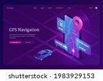 gps navigation banner. online... | Shutterstock .eps vector #1983929153