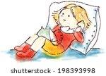 girl talking by phone. vector... | Shutterstock .eps vector #198393998
