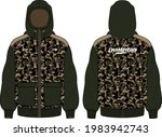 long sleeve camouflage hoodie... | Shutterstock .eps vector #1983942743