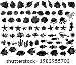 a set of silhouette... | Shutterstock .eps vector #1983955703