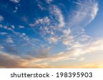 dramatic sky with white clouds.  | Shutterstock . vector #198395903