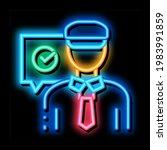 policeman access neon light...   Shutterstock .eps vector #1983991859