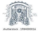 Door Decoration. Christmas Card ...