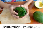 A Photo Of An Avocado That Has...