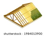framed roof as house top... | Shutterstock .eps vector #1984013900