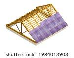 framed roof as house top... | Shutterstock .eps vector #1984013903