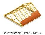 framed roof as house top...   Shutterstock .eps vector #1984013939