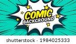 comic pop art cloud bubble.... | Shutterstock .eps vector #1984025333