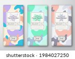 chocolate labels set. abstract... | Shutterstock .eps vector #1984027250