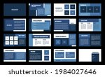 presentation template. blue and ...