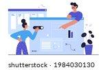 people develop ui ux design ... | Shutterstock .eps vector #1984030130