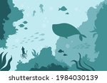 Underwater Sea Bottom With...