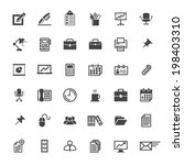 Business Office Icon Set  ...