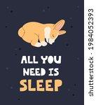 sleeping breed welsh corgi ... | Shutterstock .eps vector #1984052393
