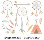 american indian   tribal dream... | Shutterstock .eps vector #198406550