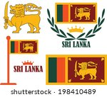 sri lanka flag. isolated flags... | Shutterstock .eps vector #198410489