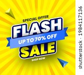 special offer flash sale banner ... | Shutterstock .eps vector #1984117136