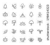 set of  outline stroke natural... | Shutterstock .eps vector #198414323