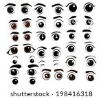 cartoon eyes collection vector... | Shutterstock .eps vector #198416318