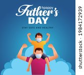 son on his father shoulders on... | Shutterstock .eps vector #1984172939