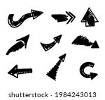vector set of hand drawn arrows ...   Shutterstock .eps vector #1984243013
