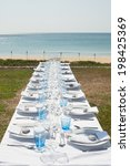 Table Set Up On The Beach