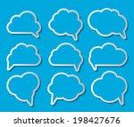 set of cloud shaped speech... | Shutterstock . vector #198427676