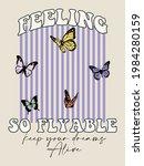 70s retro groovy hippie slogan...   Shutterstock .eps vector #1984280159