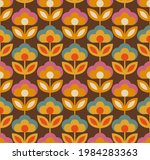 colorful floral vector seamless ...   Shutterstock .eps vector #1984283363
