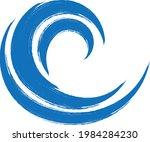 grunge wave logo element.... | Shutterstock .eps vector #1984284230