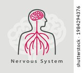 Nervous System Icon. Simple...