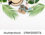 Straw Hat And Baby Sandals With ...
