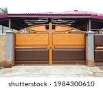 A Brown Orange Iron Gate...