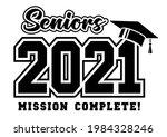 senior class of 2021 greeting ...   Shutterstock .eps vector #1984328246