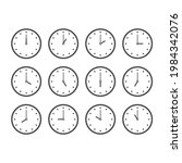 line icon set of clocks every...   Shutterstock .eps vector #1984342076