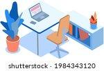 workplace organization vector... | Shutterstock .eps vector #1984343120