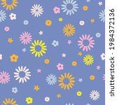 groovy daisy retro 60s 70s... | Shutterstock .eps vector #1984372136