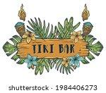 surfing tiki mask hawaii surf... | Shutterstock .eps vector #1984406273