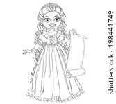 young princess with long hair... | Shutterstock .eps vector #198441749