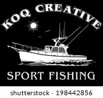 vector fishing charter boat