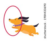 circus dog animal jumping...   Shutterstock .eps vector #1984433690