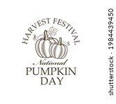 emblem of vegetable pumpkins...   Shutterstock .eps vector #1984439450