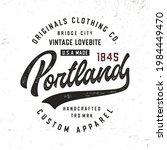 portland. original handmade...   Shutterstock .eps vector #1984449470