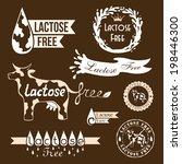 lactose free design elements.... | Shutterstock .eps vector #198446300