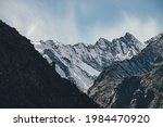Alpine Landscape With High...