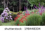 a rural country garden at the... | Shutterstock . vector #198448334